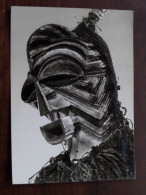 Polychroom Houten Masker SONGYE Stam ( Lomani Congo Kinshasa ) H. 419 mm. Anno 1
