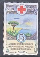 ITALY  AAMC  17b  VIGNETTE  AEROPHILATELIC   NAPOLI  BOMBARDEMENT  PAR  ZEPPELIN  1918 * - 1900-44 Vittorio Emanuele III