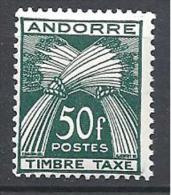 ANDORRE TAXE N� 40 NEUF** TTB