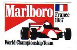 AUTOCOLLANT  STICKER  MARLBORO GRAND PRIX FRANCE 1987 - Pegatinas