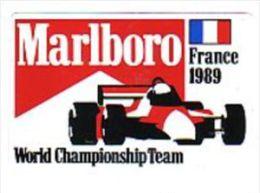 AUTOCOLLANT  STICKER  MARLBORO GRAND PRIX FRANCE 1989 - Pegatinas