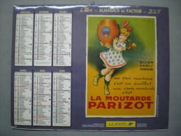 Calendrier PTT : POSTES ET TELEGRAPHES - 2007 -La Moutarde PARISOT Et  CALOR Fer à Repasser - Calendars