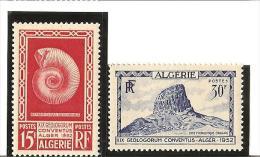 19e CONGRES DE GEOLOGIE A ALGER  N° 297*  à  298*  Charnière - Unused Stamps