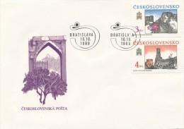 Czechoslovakia / First Day Cover (1989/15), Bratislava - Theme: Devin - Slavic Fortified Settlement - Castles