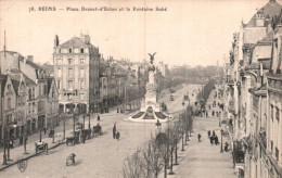 51 REIMS PLACE DROUET D'ERLON ET LA FONTAINE SUBE PAS CIRCULEE - Reims