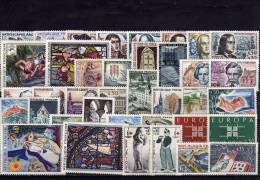 FRANCE ANNEE 1963, 38 Timbres Neufs ** LUXE N° 1368 Au N° 1403 - France