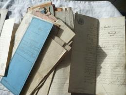 74 Actes De Notaire Du 19éme Siècle - Manuscrits