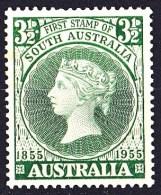Australia 1955 First Stamp Of South Australia MNH - 1952-65 Elizabeth II : Pre-Decimals
