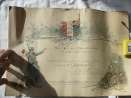 Certificat De Préparation Au Service Militaire Du 31/08/1924 - Documents