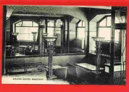 RODEZ GRAND HOTEL BROUSSY SALLE DU BAR CARTE PUBLICITAIRE VERS 1920 CARTE EN SUPERBE ETAT - Rodez