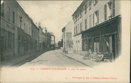 77 CHAMPS SUR MARNE / La Rue De Paris / - Other Municipalities
