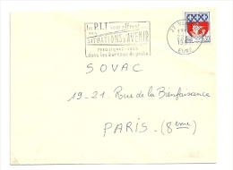 EURE - Dépt N° 27 = VERNON 1967 = FLAMME Codée = SECAP  ´ PTT Vous OFFRENT SITUATIONS AVENIR ´ - Postmark Collection (Covers)