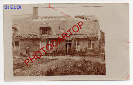 SINT ELOOIS-Saint Eloi-Carte Photo Allemande-Guerre 14-18-1WK-BELGIEN-BELGIQUE-FLANDERN-Flandres- - Ledegem