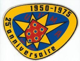 Association/ USMA/ 1950-1975 / 25éme Anniversaire /Saint Ouen/ 1975  ACOL37 - Stickers