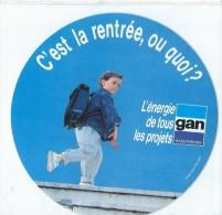 Assurances / C'est La Rentrée Ou Quoi?/ GAN/ L'énergie De Tous Les Projets / Années 1980     ACOL39 - Stickers