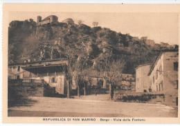 SAN MARINO-REPUBBLICA DI SAN MARINO BORGO VIALE DELLA FONTANA - San Marino