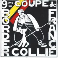 Chiens / 9éme Coupe De France /Border Collie / Années 1980     ACOL40 - Stickers