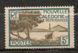 N CALEDONIE 5c Bleu Vert Gris Olive 1928-38 N°142 - New Caledonia
