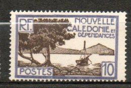 N CALEDONIE  10c Violet Sépia 1928-38 N°143 - New Caledonia