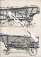 Sté Française De Matériel Agricole Et Industriel, Vierzon, Page Catalogue Vers 1930, Batteuse T2B Avec Trieur, ébarbeur - Machines