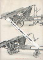 Sté Française De Matériel Agricole Et Industriel, Vierzon, Page Catalogue Vers 1930 Presse à Paille Haute Densité AR, AN - Machines