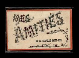 44 - LA CHAPELLE-BASSE-MER - Mes Amitiés De - Carte Avec Paillettes - La Chapelle Basse-Mer