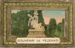 34 Pezenas  Souvenir  Carte à Systeme - Saint-Pons-de-Thomières