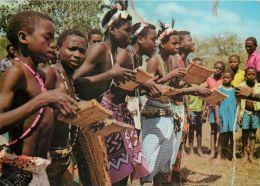 Giriama Dancers, Kenya Postcard Used Posted To UK 1988 Nice Stamp - Kenya