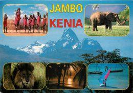 Multiview, Kenya Postcard Used Posted To UK 1999 Gb Stamp - Kenya
