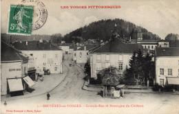 Bruyères En Vosges - Grande Rue Et Montagne Du Château - 88 - - Bruyeres