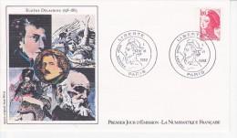 EUGENE DELACROIX, Portrait, Sabine, Dessin De Jean Witta,  FDC 01/06/1982 - FDC