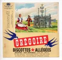 Buvard - Biscottes Allégées Grégoire - Le Calvaire De Plougastel Daoulas - Zwieback