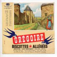 Buvard - Biscottes Allégées Grégoire - Les Remparts Et Le Chemin De Ronde De Carcassonne - Zwieback