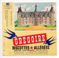 Buvard - Biscottes Allégées Grégoire - Château De Nevers - Zwieback