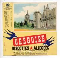 Buvard - Biscottes Allégées Grégoire - Château Des Papes à Avignon - Zwieback