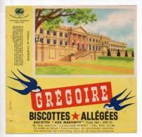 Buvard - Biscottes Allégées Grégoire - Château De Compiègne - Zwieback