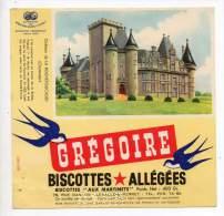 Buvard - Biscottes Allégées Grégoire - Château De La Rouchefoucauld - Zwieback