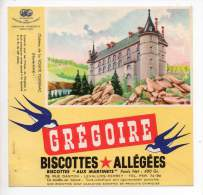 Buvard - Biscottes Allégées Grégoire - Château De La Voulte Polignac - Zwieback