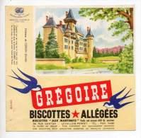Buvard - Biscottes Allégées Grégoire - Château De Cléron - Zwieback