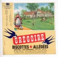 Buvard - Biscottes Allégées Grégoire - La Chartreuse De Liget - Zwieback