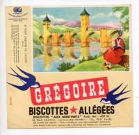 Buvard - Biscottes Allégées Grégoire - Le Pont Valentre De Cahors - Zwieback