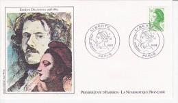 EUGENE DELACROIX, Portrait, Sabine, Dessin De Jean Witta,  FDC 01/06/1982 - 1980-1989