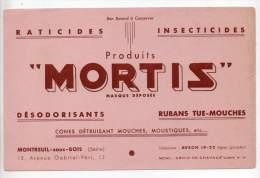 Buvard - Produits Mortis, Raticide, Insecticides - M