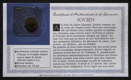 Pièce En Bronze Antique Jovien - Empire Romain - 8. La Fin De L'Empire (363-476)