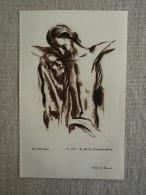 Image Pieuse Art Catholique Dessin Jésus Marie Fr. M.A. Couturier 1951. Voir Photos. - Religione & Esoterismo