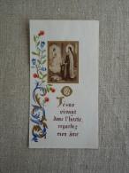 Image Pieuse Communiant Présenté Par Marie à L´ange Arabesques Peints Fleuris. Voir Photos. - Religione & Esoterismo