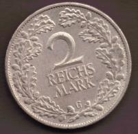 DEUTSCHES REICH 2 REICHSMARK 1925 G ARGENT SILVER - [ 3] 1918-1933 : Weimar Republic