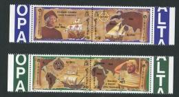 GIBRALTAR 1992 EUROPA [COLUMBUS] PAIRS UNMOUNTED MINT - Gibraltar