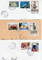 Lot De 3 Enveloppes De Polynésie - Bureau Militaire PAPEETE R.P. ANNEXE 1 - R 860 - Polynésie Française