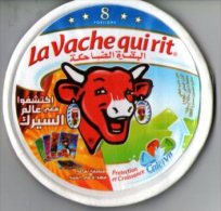"""Etiquette De Boite De Fromage """"la Vache Qui Rit"""" ( 8 Portions) - Cheese"""